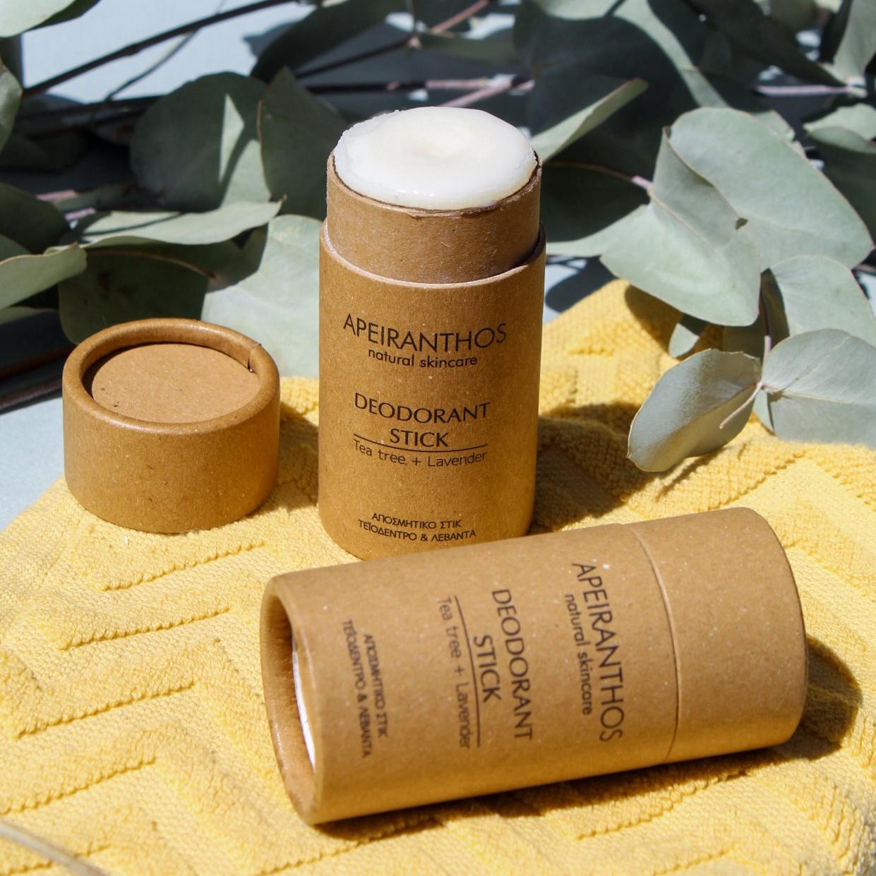 Apeiranthos Deodorant stick | Tea tree + Lavender 30gr