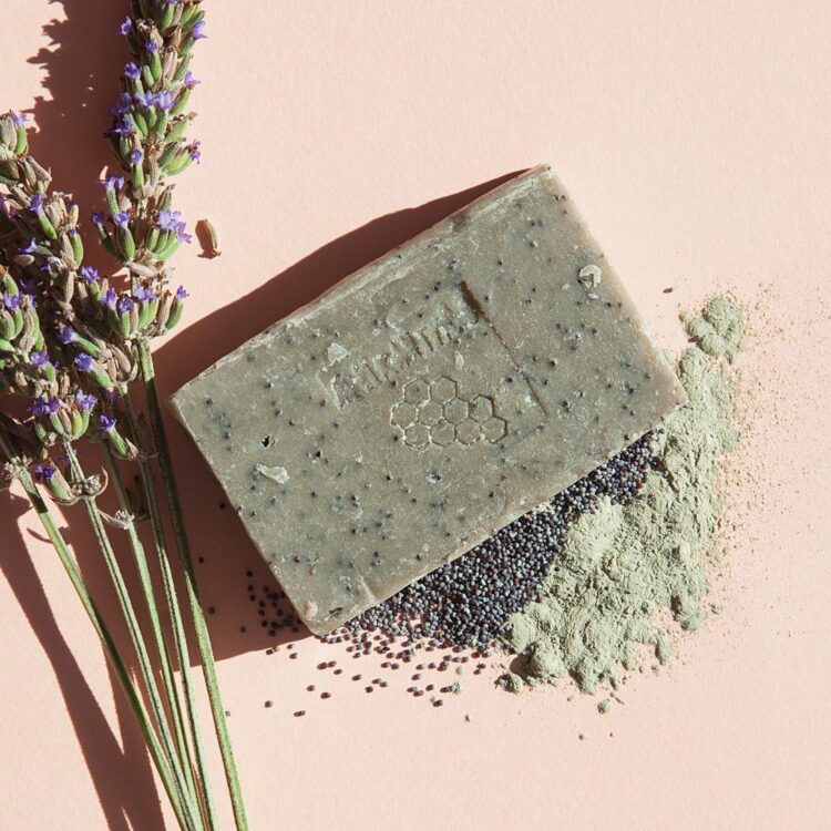 Apeiranthos Poppy soap | Green clay + Lavender 100gr