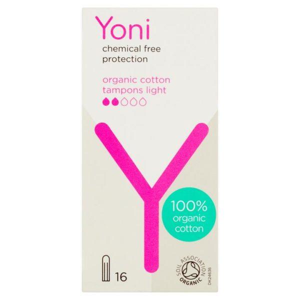 Yoni ταμπόν από οργανικό βαμβάκι Light 16τμχ