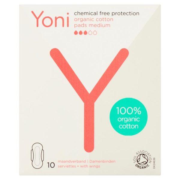 Yoni σερβιέτες από οργανικό βαμβάκι Medium 10τμχ