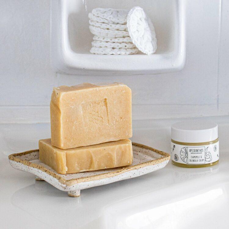 Apeiranthos Curcuma soap | Avocado + Petit grain 100gr