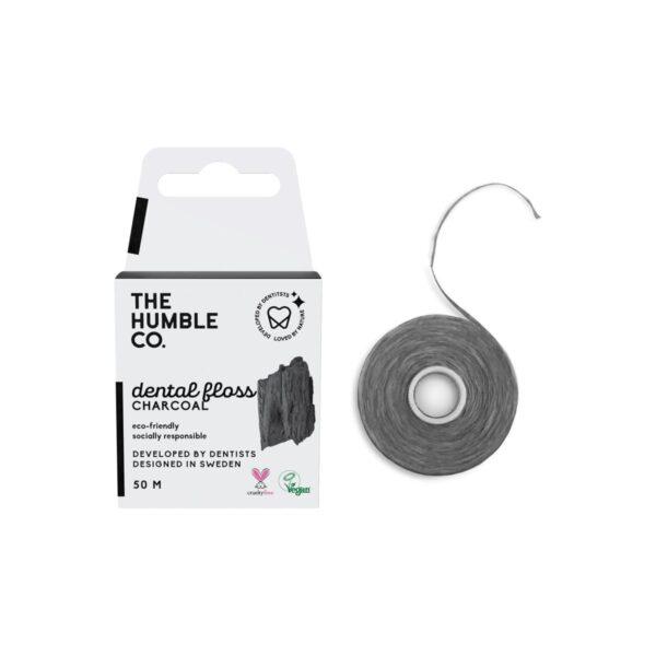 Humble οδοντικό νήμα καθαρισμού Charcoal 50m (Ενεργός άνθρακας)