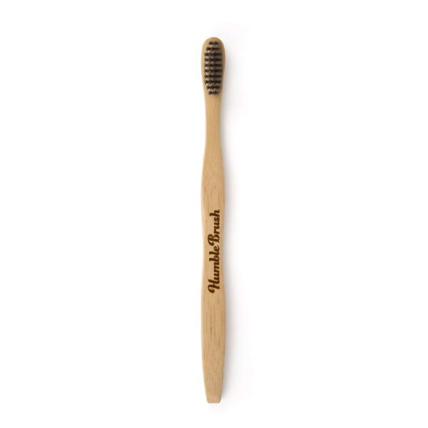Humble Activated charcoal adult bamboo toothbrush