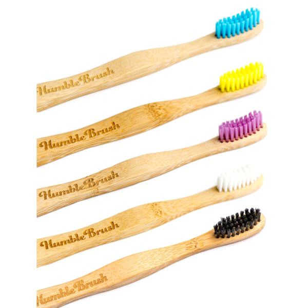 Humble ΣΕΤ 5 οδοντόβουρτσες από μπαμπού ενηλίκων Soft